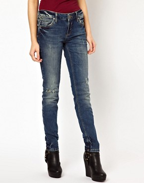 Image 1 ofRiver Island Taylor Skinny Jean with Scratch Wash