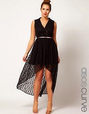 Vestido biker de encaje de ASOS CURVE