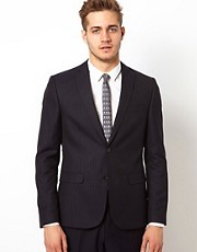 ASOS Slim Fit Suit Jacket in Pinstripe