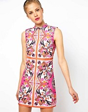 ASOS Shift Dress In Penelope Scarf Print
