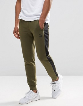 Puma Tapered Joggers In Green