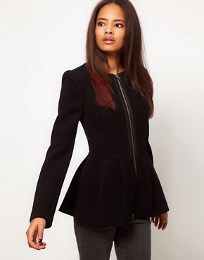 Image 1 ofASOS Peplum Hem Jacket
