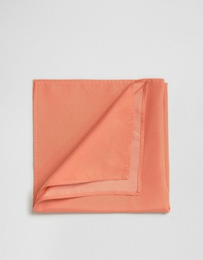 ASOS WEDDING Pocket Square In Coral