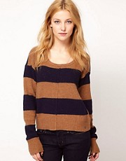 Levi&#39;s Striped Knitted Jumper