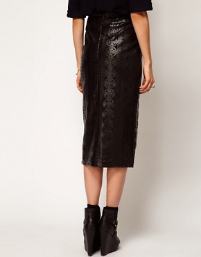 Image 2 ofASOS Cutwork Pencil Skirt