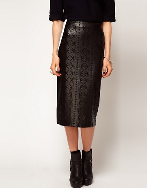 Image 4 ofASOS Cutwork Pencil Skirt