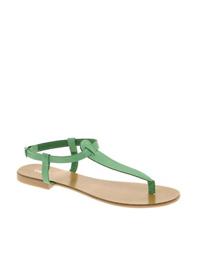 Image 1 of Oasis Plain Toe Post Sandals