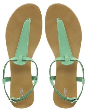 Image 3 of Oasis Plain Toe Post Sandals