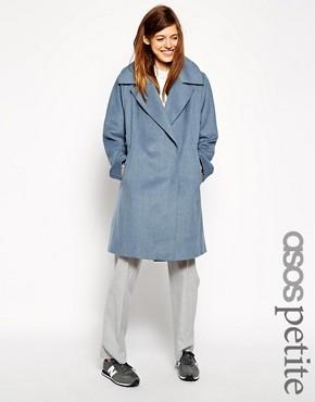ASOS PETITE Trapeze Coat in Brushed Wool