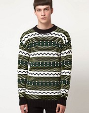 Horace - Maglia oversize con motivo fair isle