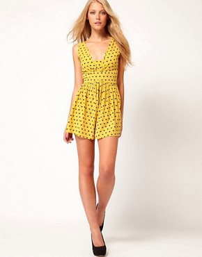 Image 4 ofASOS Flippy Short Playsuit in Heart Print