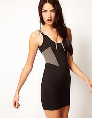 Factory By Erik Hart Vest Dress With Contrast Detailing