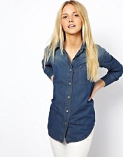 ASOS Denim Shirt in Dark Vintage Wash