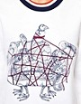 Image 3 ofOstwald Helgason Sea Creatures Jumper with Knitted Cuff and Hem Band