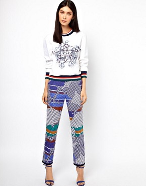 Image 4 ofOstwald Helgason Sea Creatures Jumper with Knitted Cuff and Hem Band