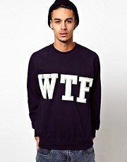 Reclaimed Vintage Sweat with WTF Embroidery