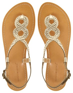 Image 3 ofLondon Rebel Weave Thong Flat Sandal