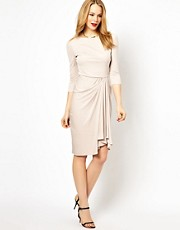 Karen Millen - Vestito in jersey drappeggiato sul davanti
