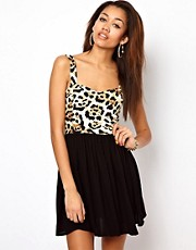 Motel Leopard Print Dress