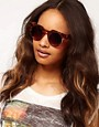 Image 3 ofASOS Flat Top Round Sunglasses