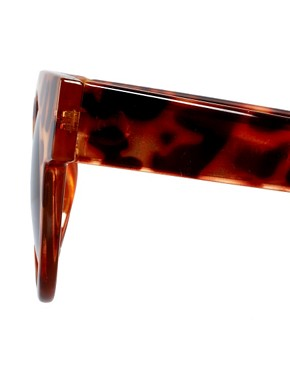 Image 4 ofASOS Flat Top Round Sunglasses