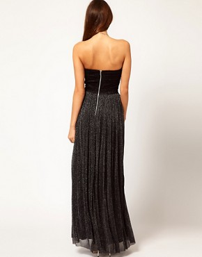 Image 2 ofRare Metallic Skirt Bandeau Maxi Dress