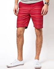 Bellfield Cut And Sew Aztec Shorts