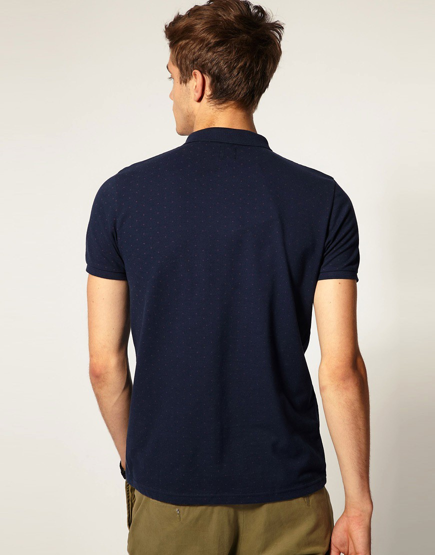 Image 2 of ASOS Polo Shirt With All Over Polka Dot