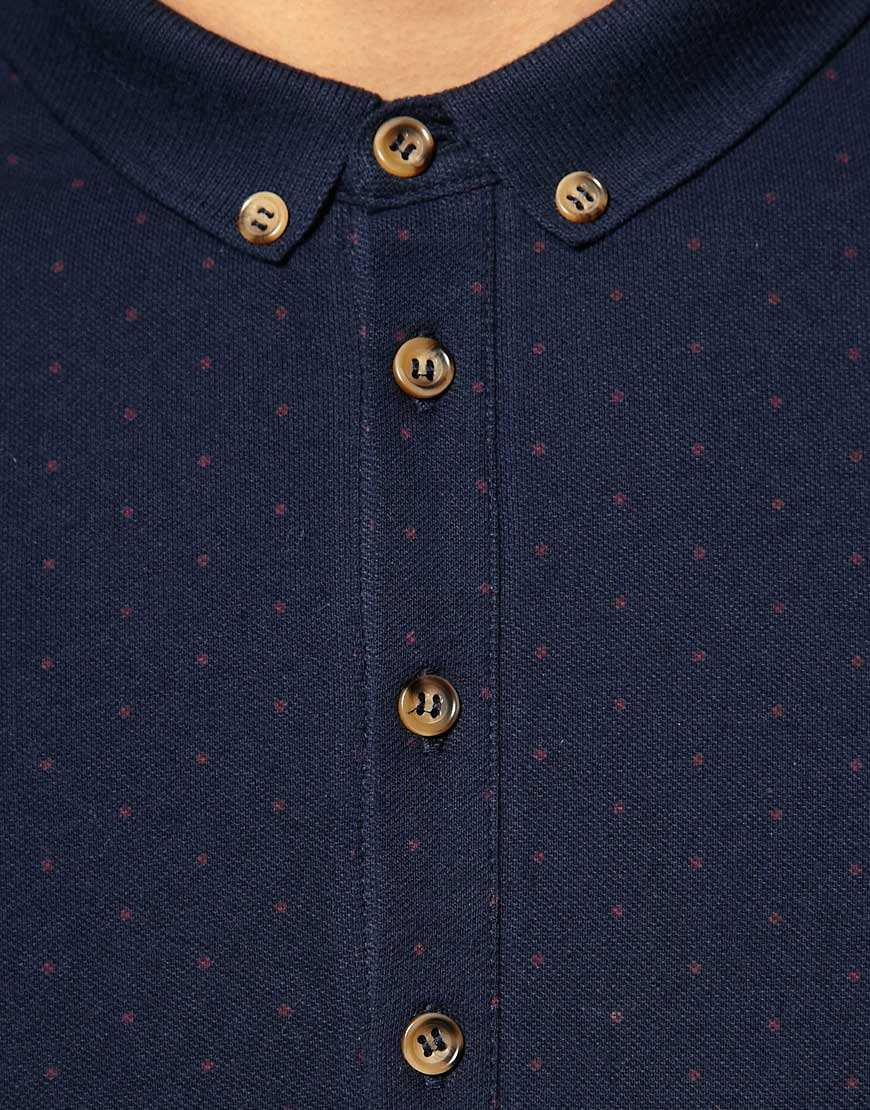 Image 3 of ASOS Polo Shirt With All Over Polka Dot