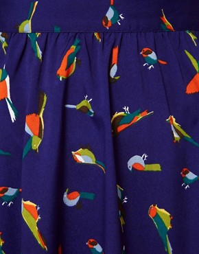 Image 3 ofInfluence Bird Print Mini Skirt