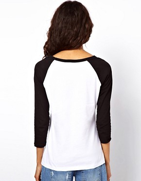 Image 2 ofASOS Top with Stolen City Slogan and Raglan Sleeves