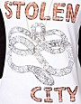 Image 3 ofASOS Top with Stolen City Slogan and Raglan Sleeves
