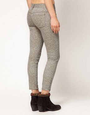 Image 2 ofFree People Lace Print Crop Skinny Jeans