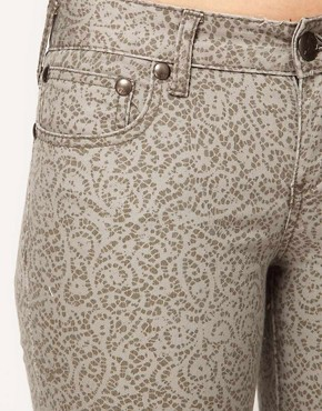 Image 3 ofFree People Lace Print Crop Skinny Jeans