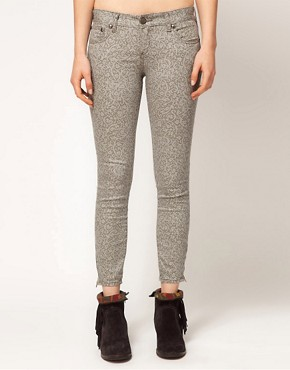 Image 1 ofFree People Lace Print Crop Skinny Jeans