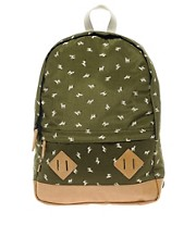 Mochila con estampado de cebra de ASOS