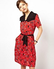 Fred Perry For The Amy Winehouse Foundation Bandana Print Shirt Dress