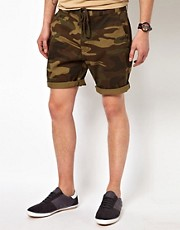 Huf &ndash;Chino-Shorts im Tarnmuster