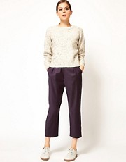 Pantalones color berenjena West Side de Rachel Comey