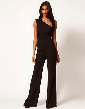 Image 1 ofASOS Jumpsuit with Extreme Shoulder