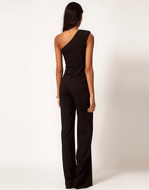 Image 2 ofASOS Jumpsuit with Extreme Shoulder