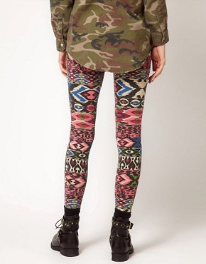 Image 2 ofRiver Island Aztec Print Legging