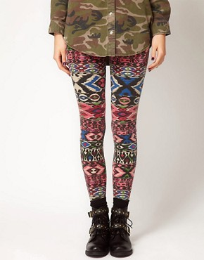 Image 4 ofRiver Island Aztec Print Legging