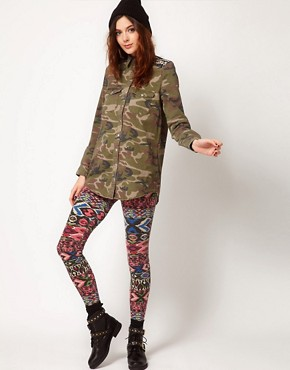 Image 1 ofRiver Island Aztec Print Legging