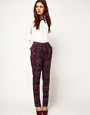 ASOS Trousers in Abstract Print