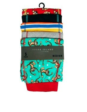 Image 3 ofRiver Island 5 Pack Monkey Trunks