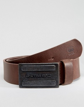 G-Star Daber Leather Belt In Brown