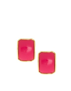 Image 1 ofSusan Caplan Exclusive For ASOS Vintage 80s Square Earrings