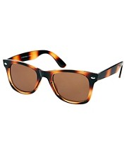 River Island  Sg Istanbul  Wayfarer-Sonnenbrille in brauner Schildpattoptik