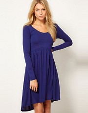 ASOS Skater Dress With High Low Hem